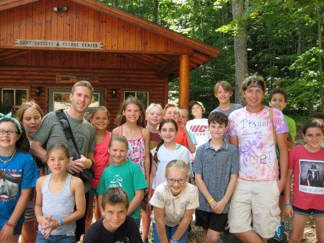 A group of campers get ready to take part in some Nature activities and learning.