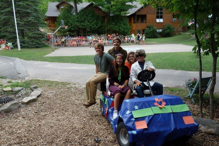 A group of camp counselors dress up as the gang from Scooby - Doo for a Mystery Night.
